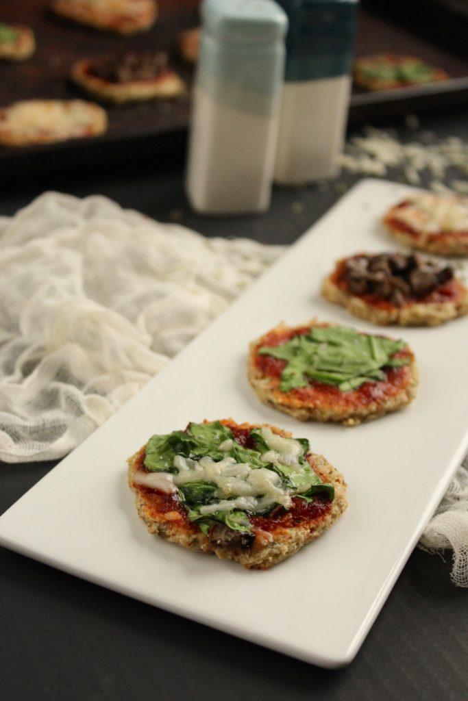 3 Mini Cauliflower Crust Pizza Bites Salt and Pepper