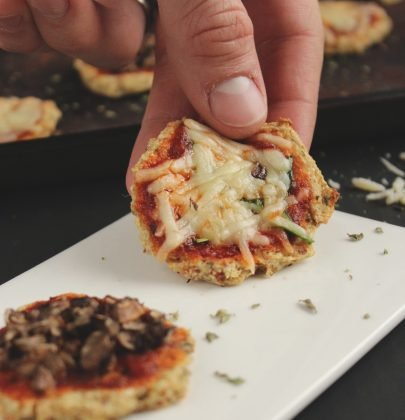 Mini Cauliflower Crust Pizza Bites