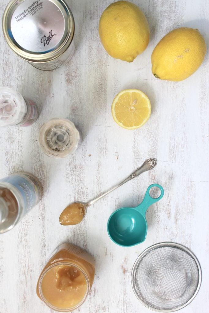 One-Jar Lemon Salad Dressing Spoon Lemons Tin