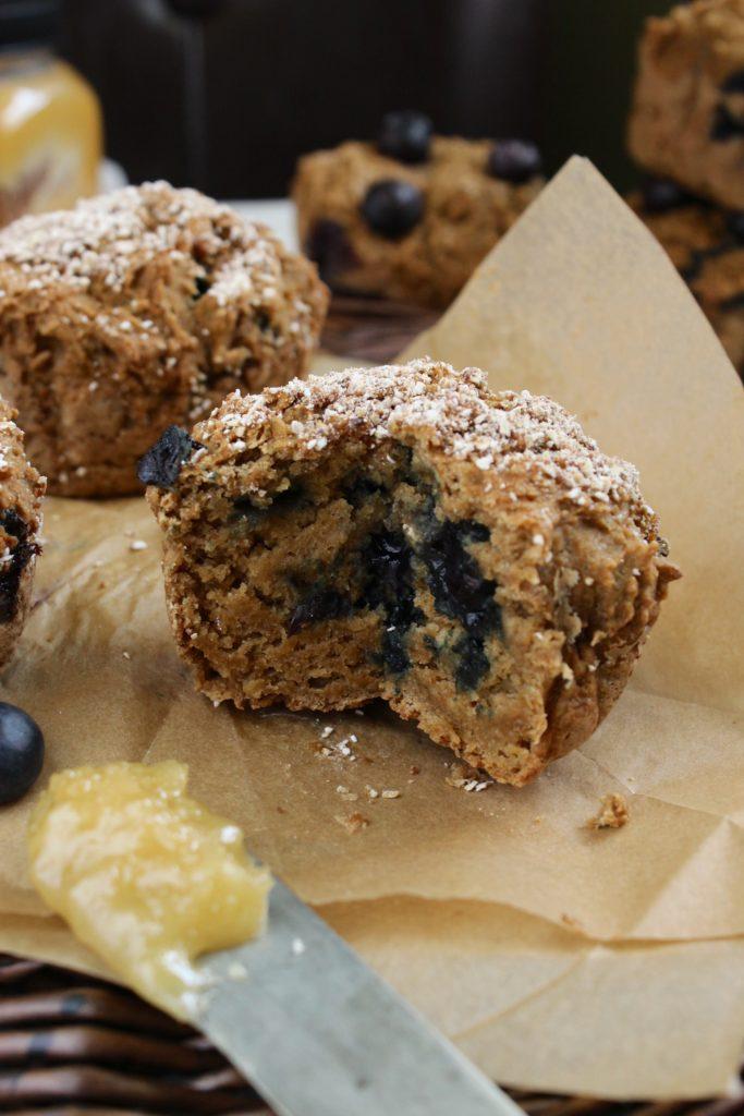 Inside of a Gluten Free Blueberry Muffin