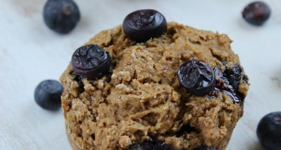 Healthy Gluten Free Blueberry Muffins [and Vegan, too!]