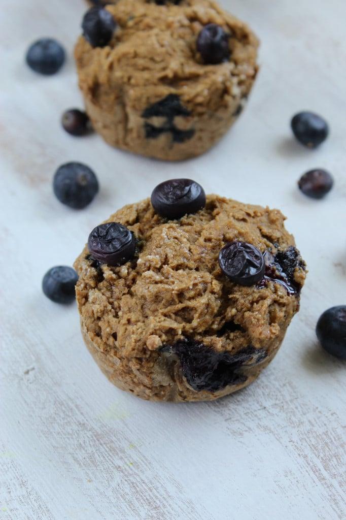 Healthy Gluten Free Blueberry Muffins