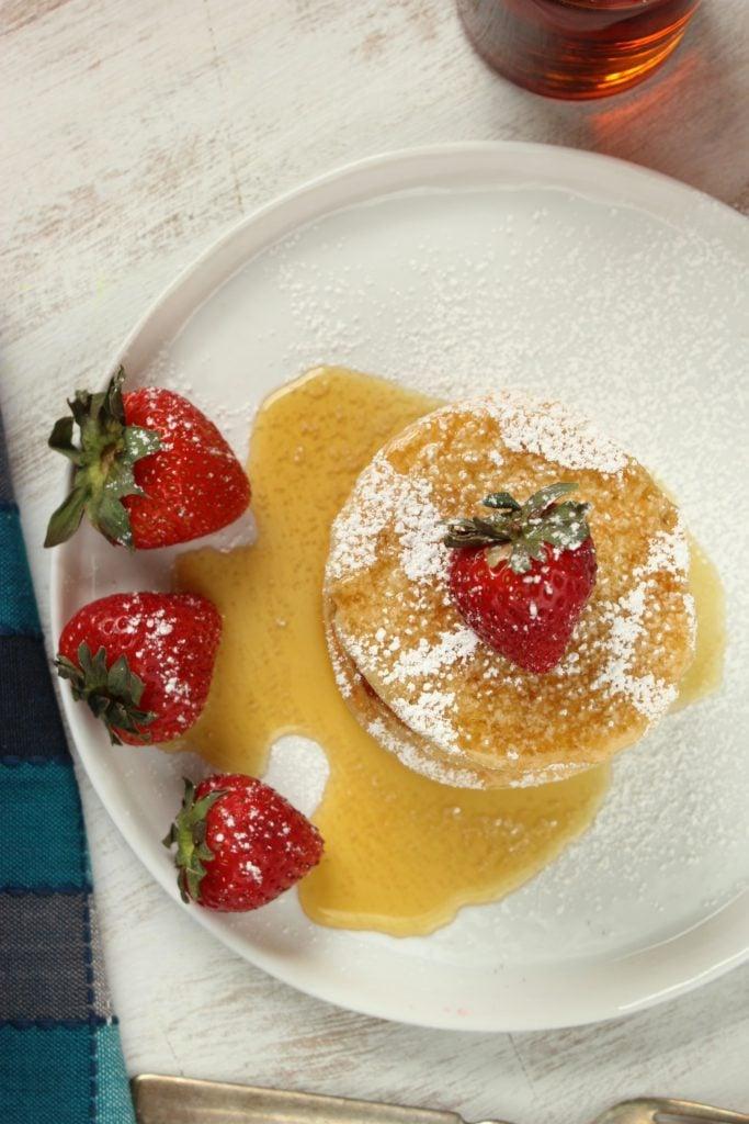 Vegan Pancakes with Strawberries