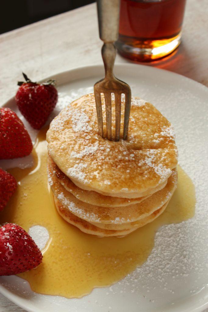 Gluten Free Vegan Pancakes on Fork