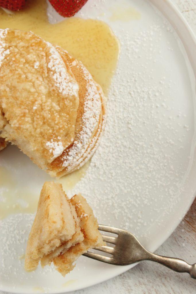 Vegan Pancakes on Fork