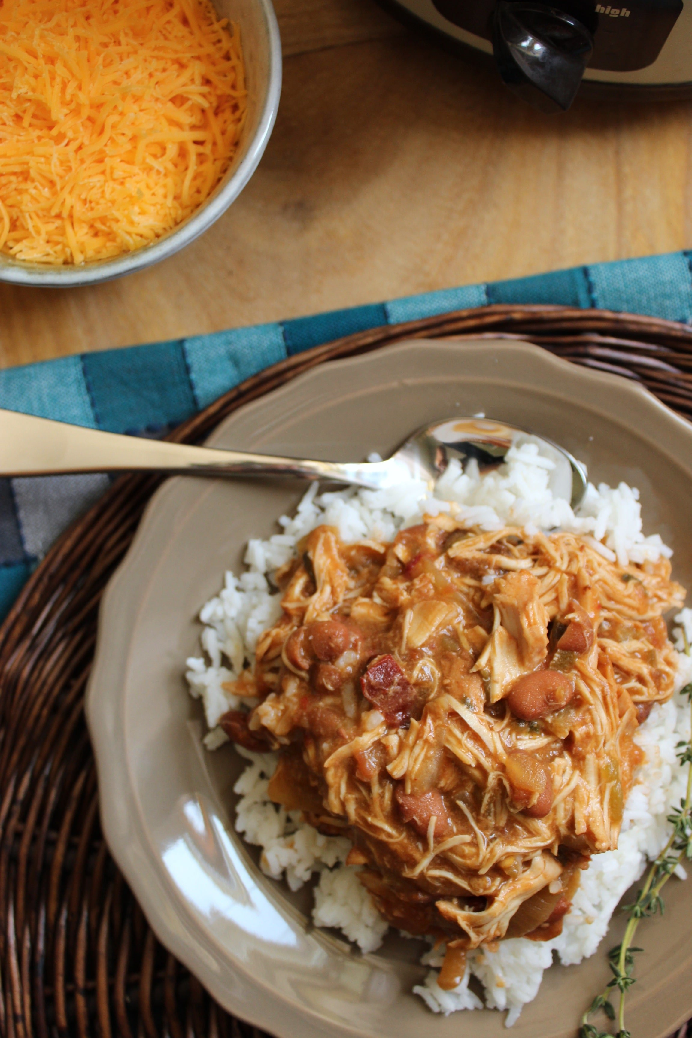 Easy Slow Cooker Chicken and Beans