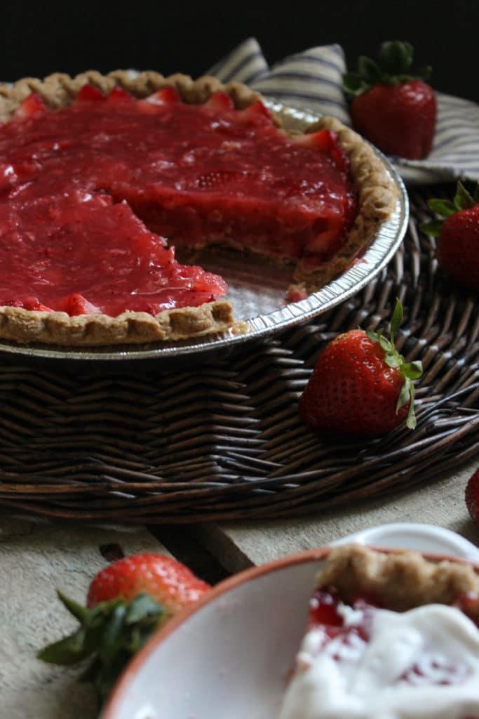 No Jello Strawberry Pie Slice Missing