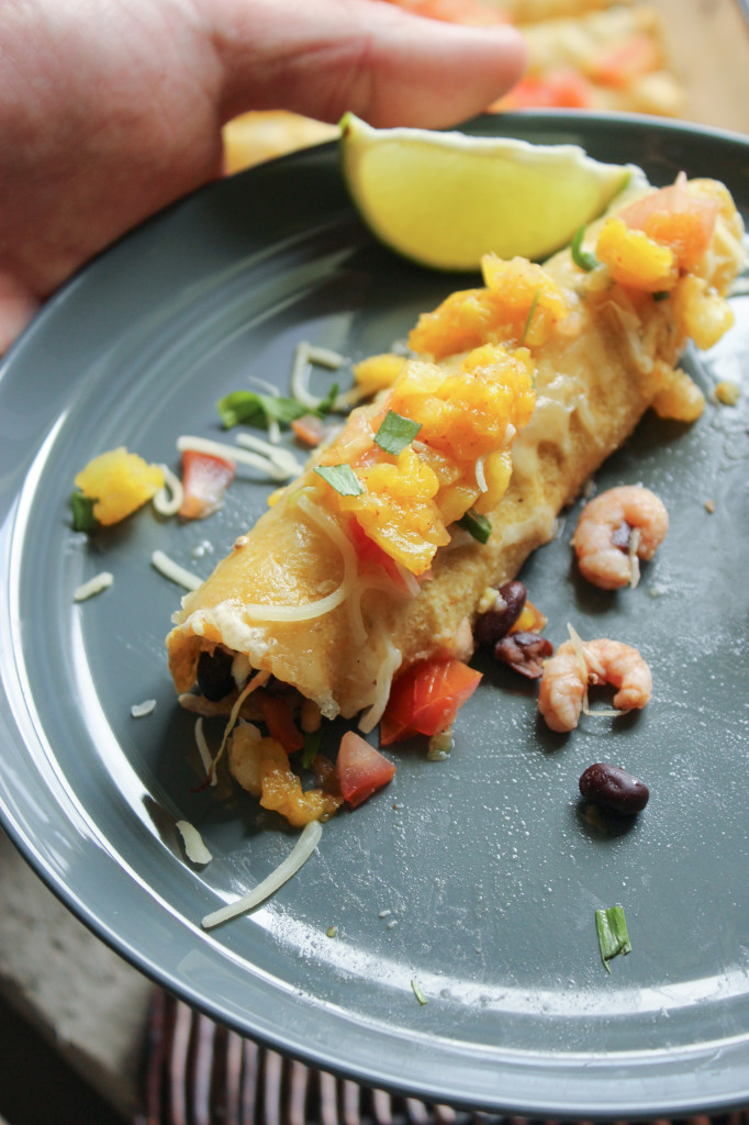 Healthy Shrimp Taquitos with Pineapple Relish