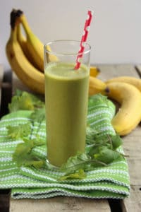 Low Calorie Strawberry Banana Kale Smoothie