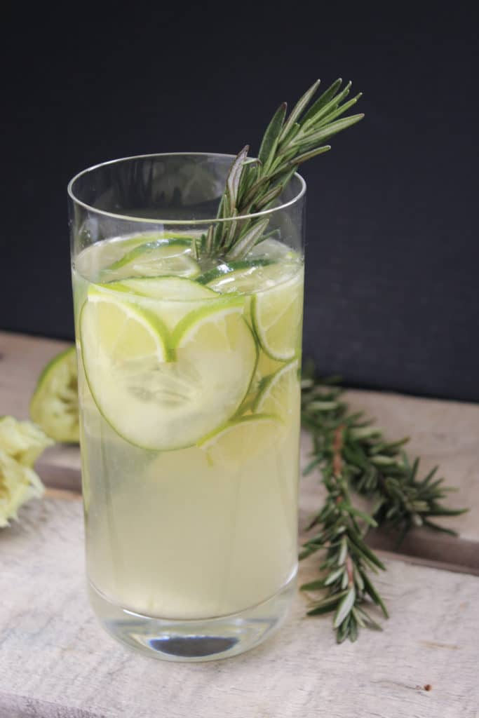 Gin and Tonic Sangria with Rosemary