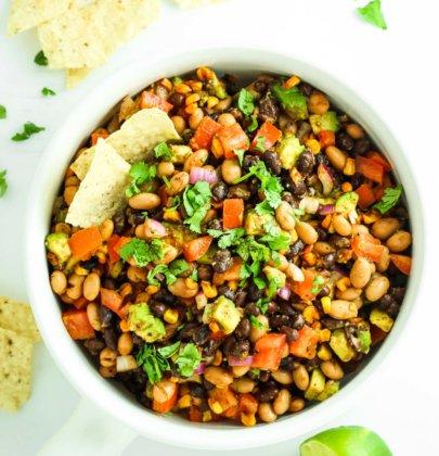 Healthy Avocado Bean Salad