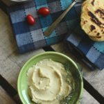 Healthy Fava Bean Hummus with Gluten Free Naan