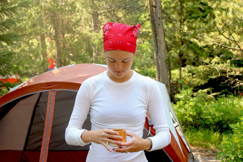 Women Camping Coffee