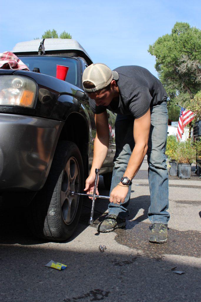 Man Fixing Tyre