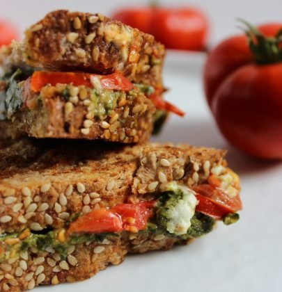 Heirloom Tomato Pesto Panini