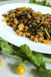 Curried Quinoa Chickpea Salad