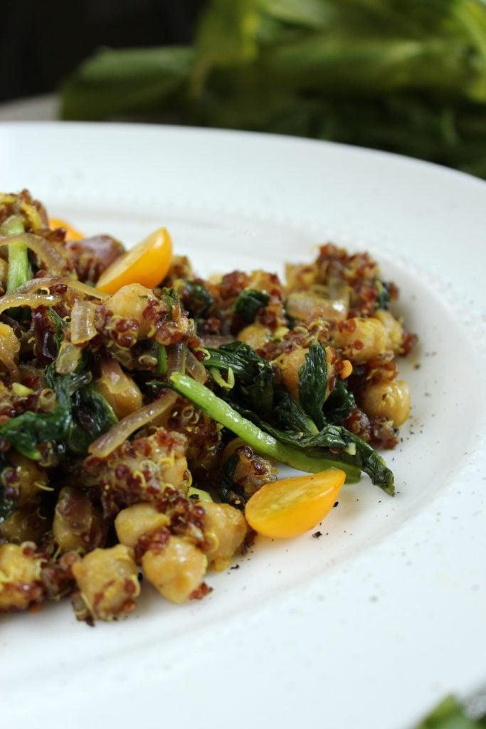 Curried Quinoa Chickpea Salad Close up