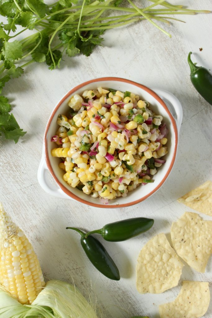 Chipotle's Corn Salsa in Bowl Sweet Corn Chilis