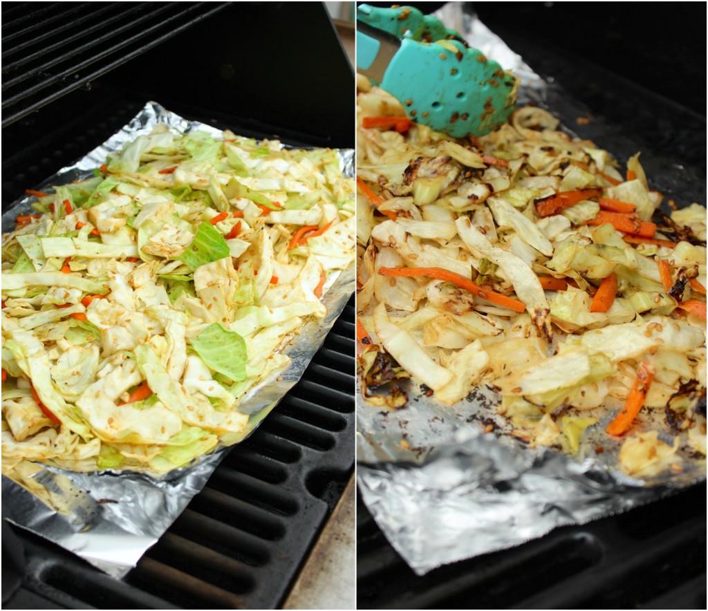 Grilled Sesame Ginger Cabbage