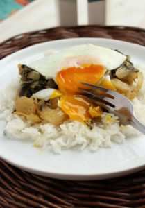Honey-Lemon Bok Choy with Basmati Rice and Eggs