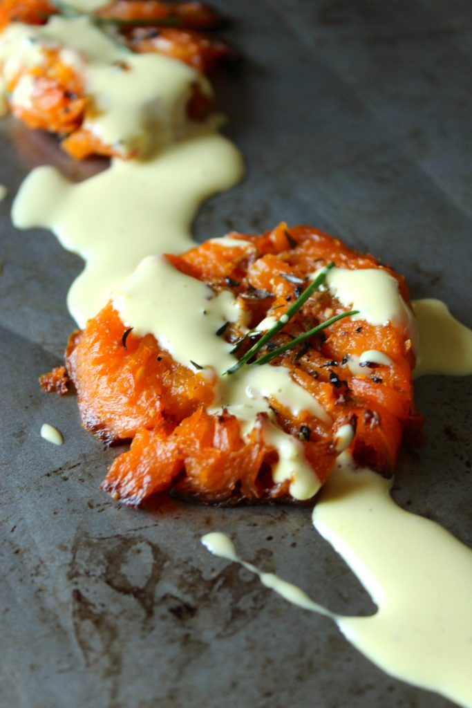 Savory Smashed Sweet Potatoes