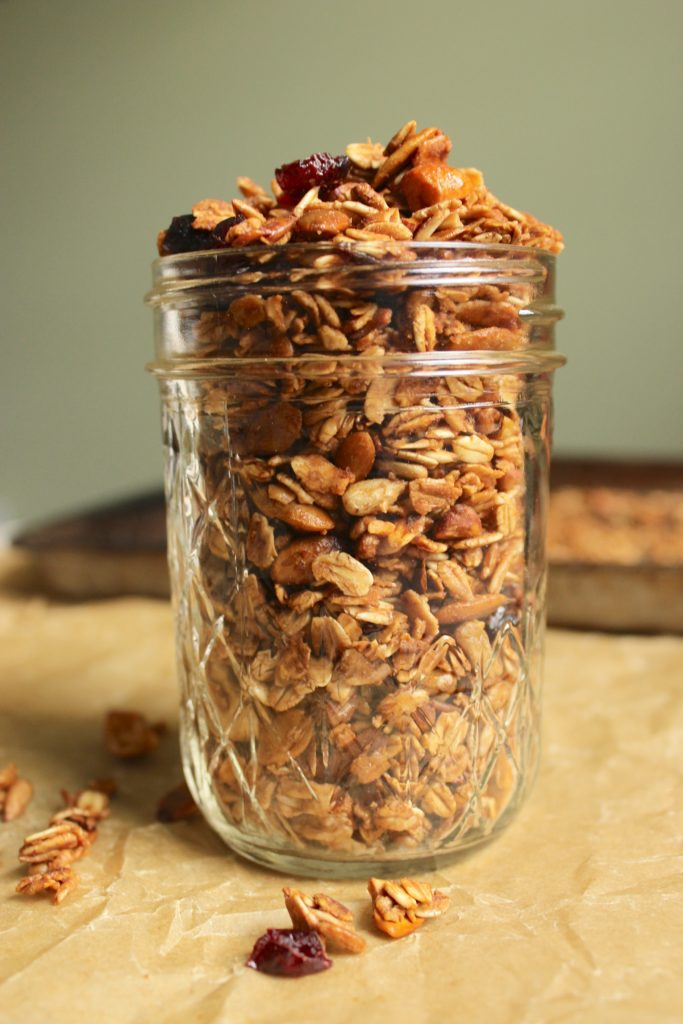 Maple Cranberry Granola in Jar