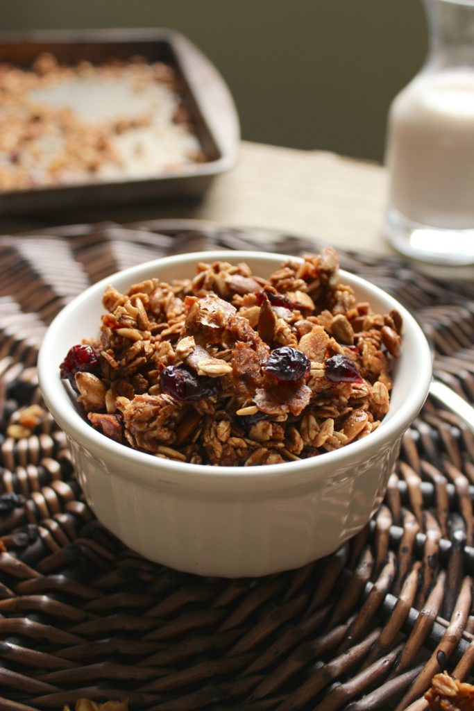 Maple Cranberry Granola Bowl