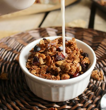 Easy Maple Cranberry Granola