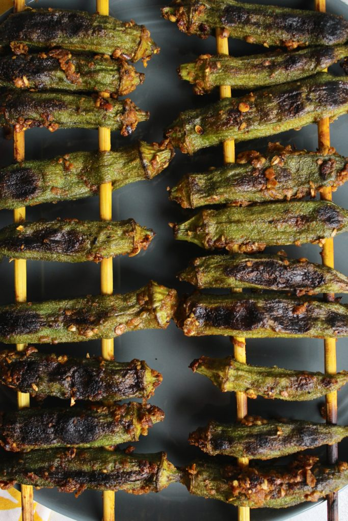 Grilled Curry Okra 4 Sticks