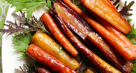 Honey Orange Roasted Carrots