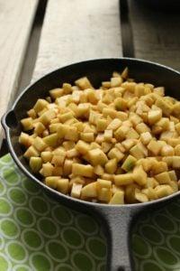Vegan Cast Iron Skillet Apple Crisp