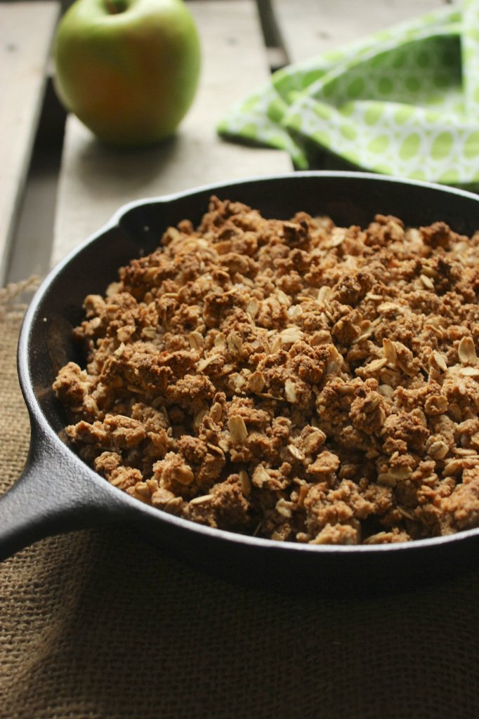 Vegan Cast Iron Skillet Apple Crisp