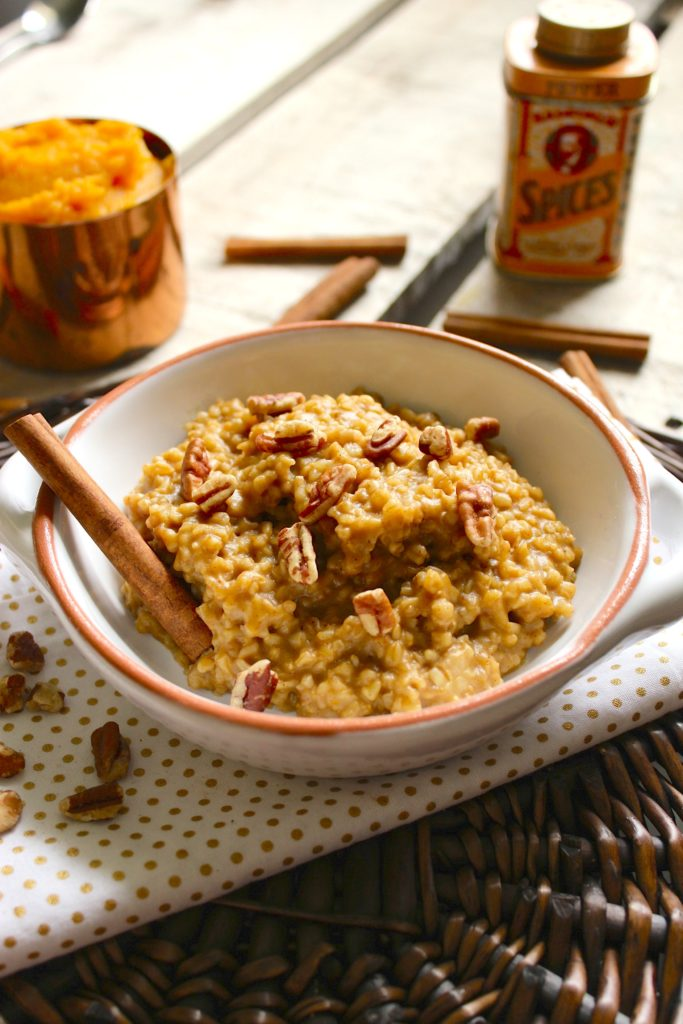 Pumpkin Spice Slow Cooker Oatmeal Spices Table