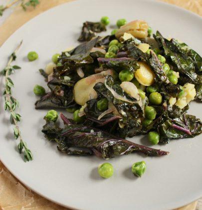 Sautéed Fava Bean Salad