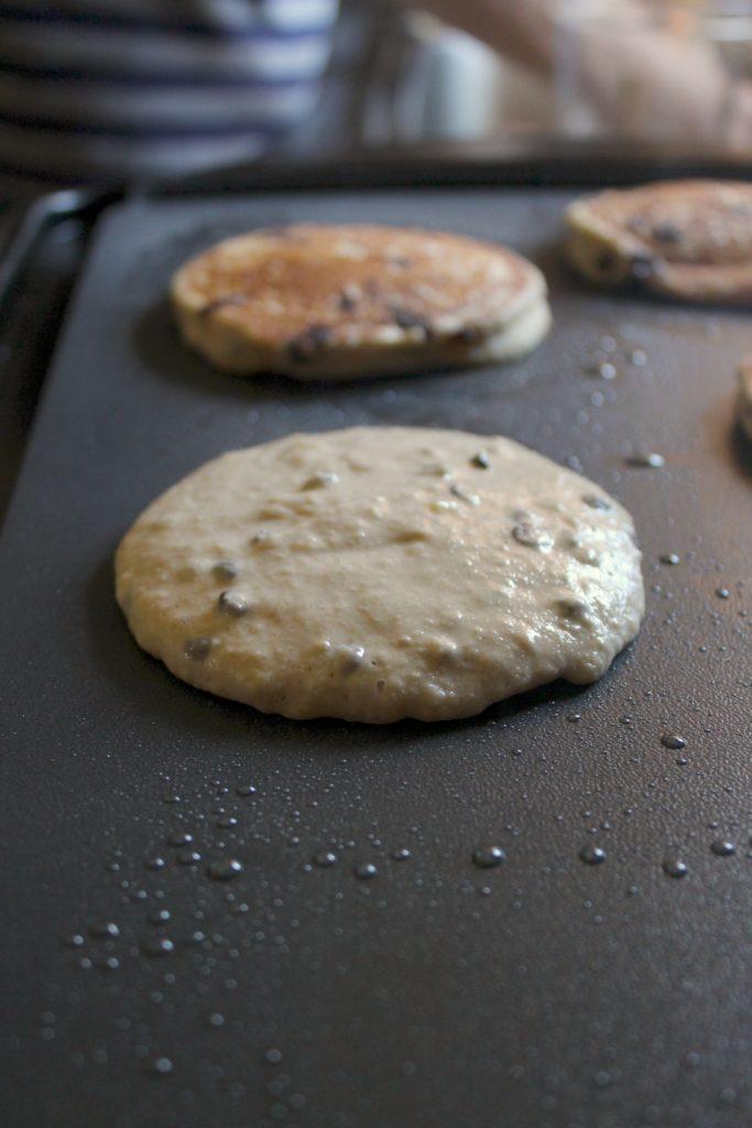 Vegan Gluten Free Chocolate Chip Banana Pancakes