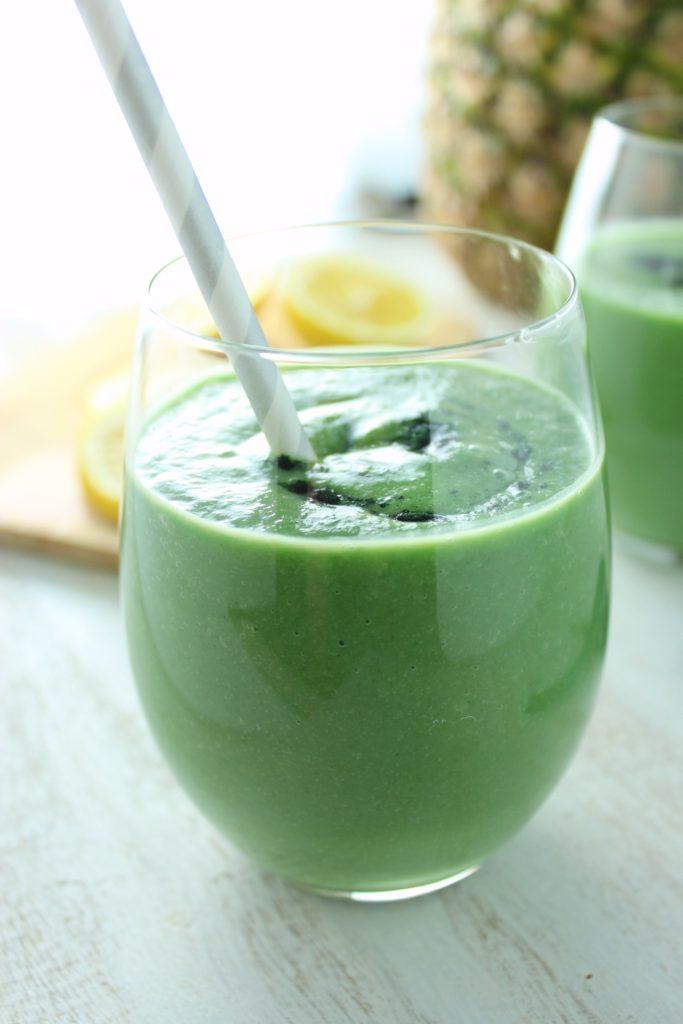 Creamy Green Detox Juice in Glass