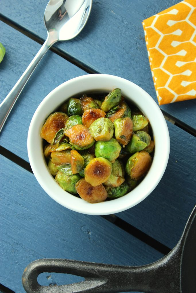 Sweet and Spicy Sriracha Brussels Sprouts Spoon Bowl