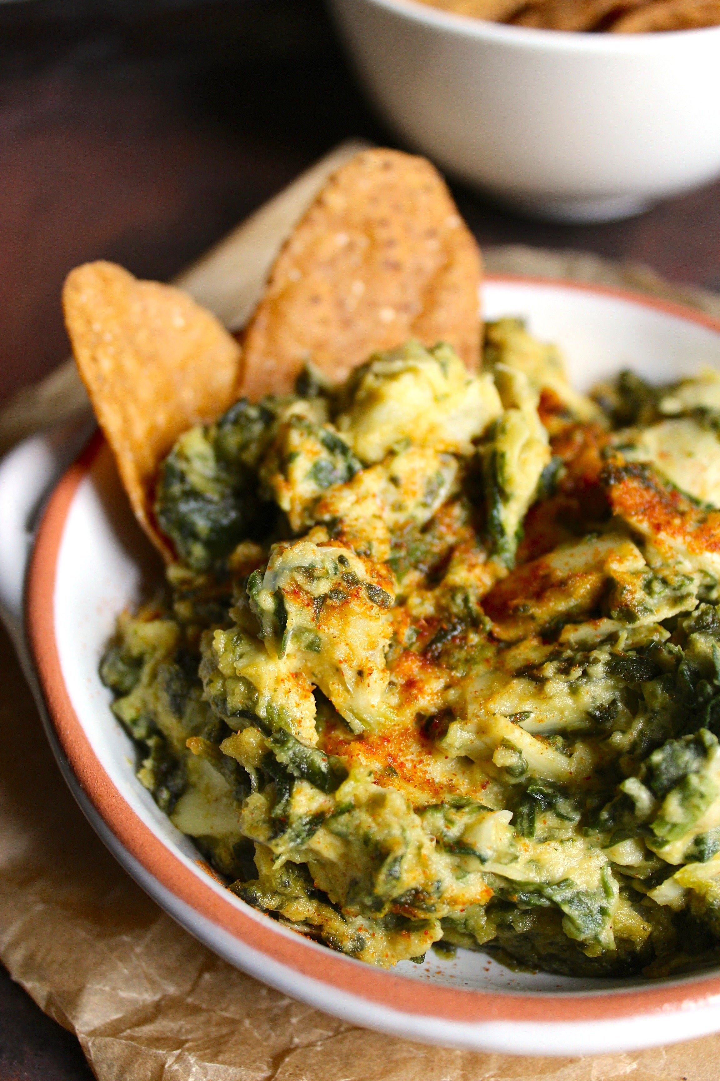 Spinach Artichoke Hummus Dip