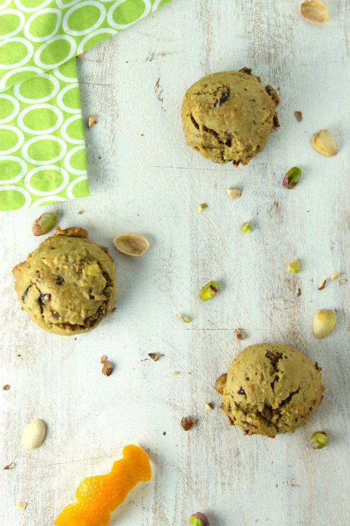 3 Gluten-Free Vegan Pistachio Orange Cookies