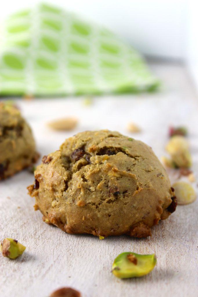 Gluten-Free Vegan Pistachio Orange Cookie Close up