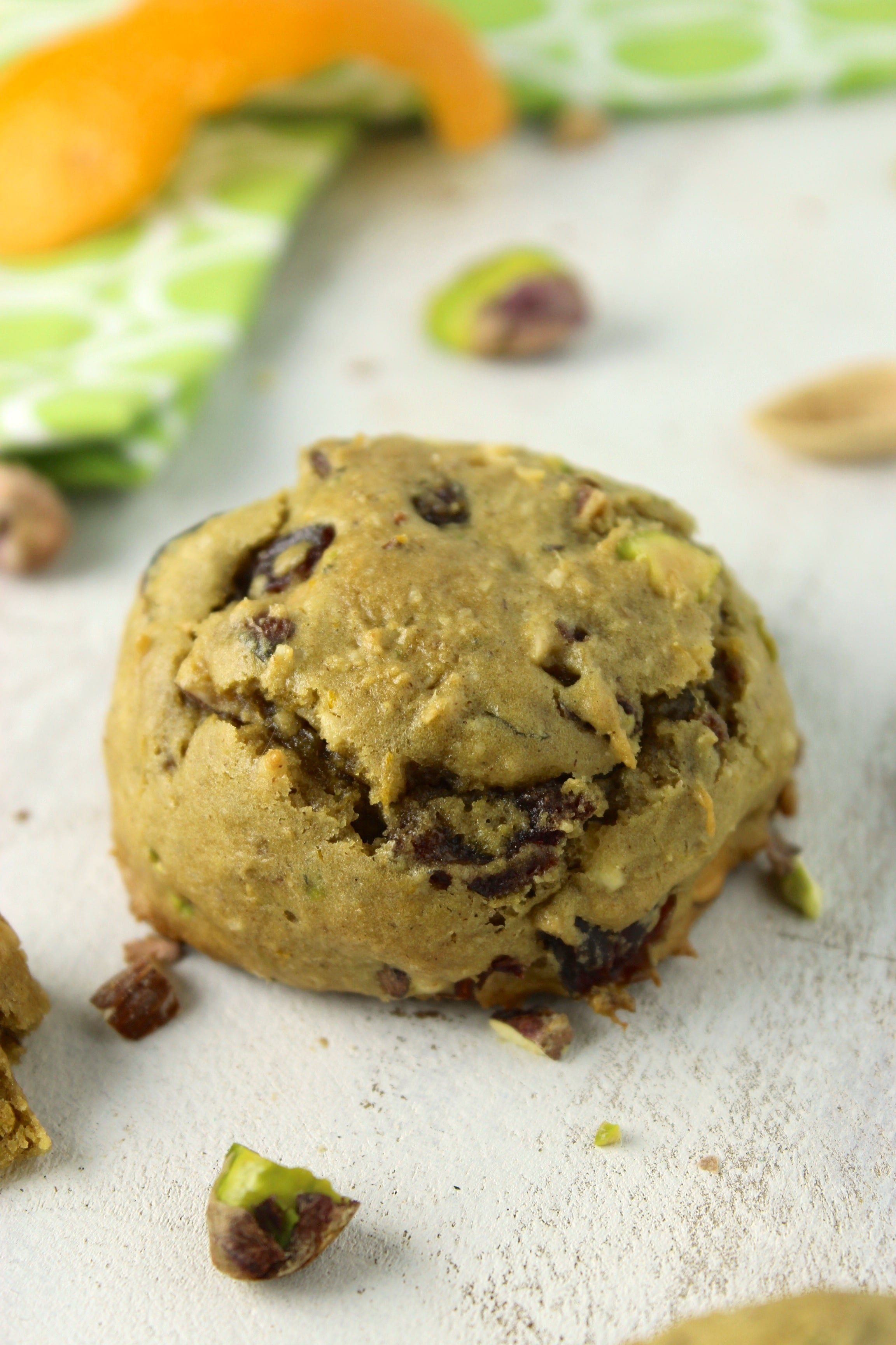 Gluten-Free Vegan Pistachio Orange Cookies