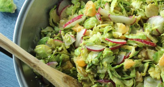 Ginger Miso Brussels Sprouts Salad