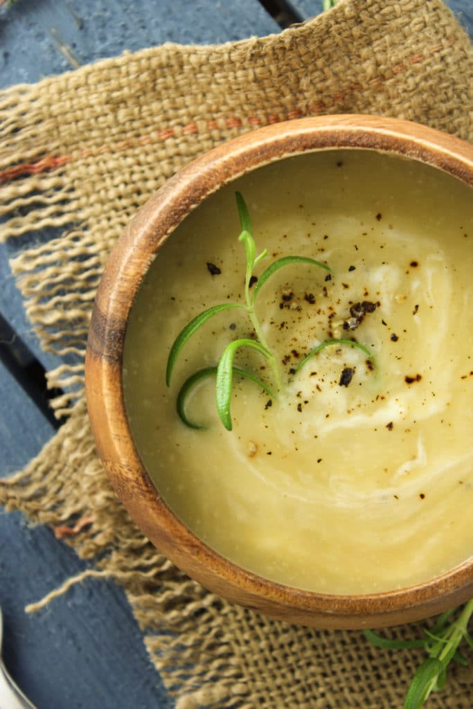 Creamy Cauliflower and Potato Soup Bowl