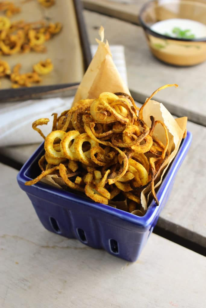 Indian Spiced Parsnip Curly Fries