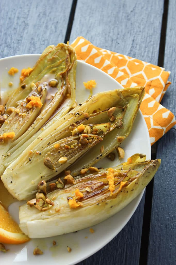 3 Pan-Seared Belgian Endives with White Wine Orange