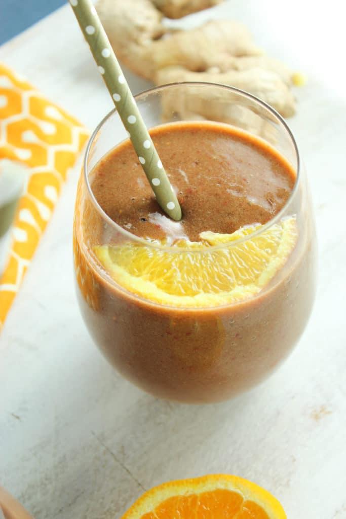 Orange Berry Spinach Smoothie