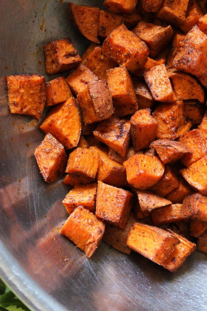 Sweet Potato Black Bean Collard