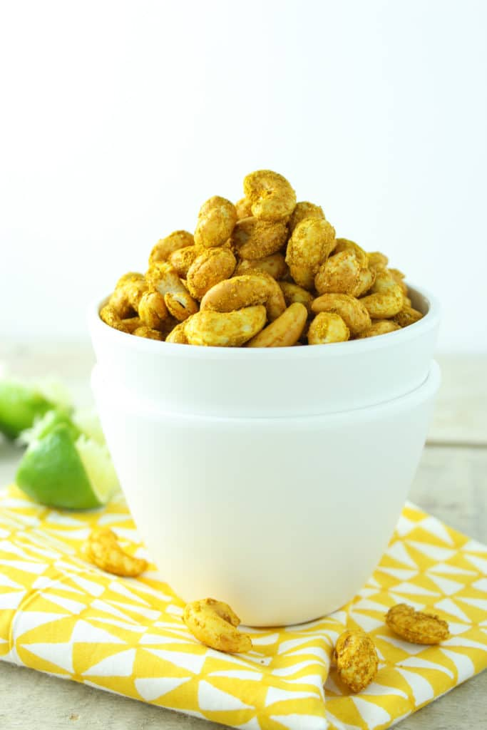Easy Curry Lime Roasted Cashews Bowl