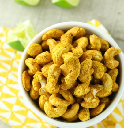 Easy Curry Lime Roasted Cashews