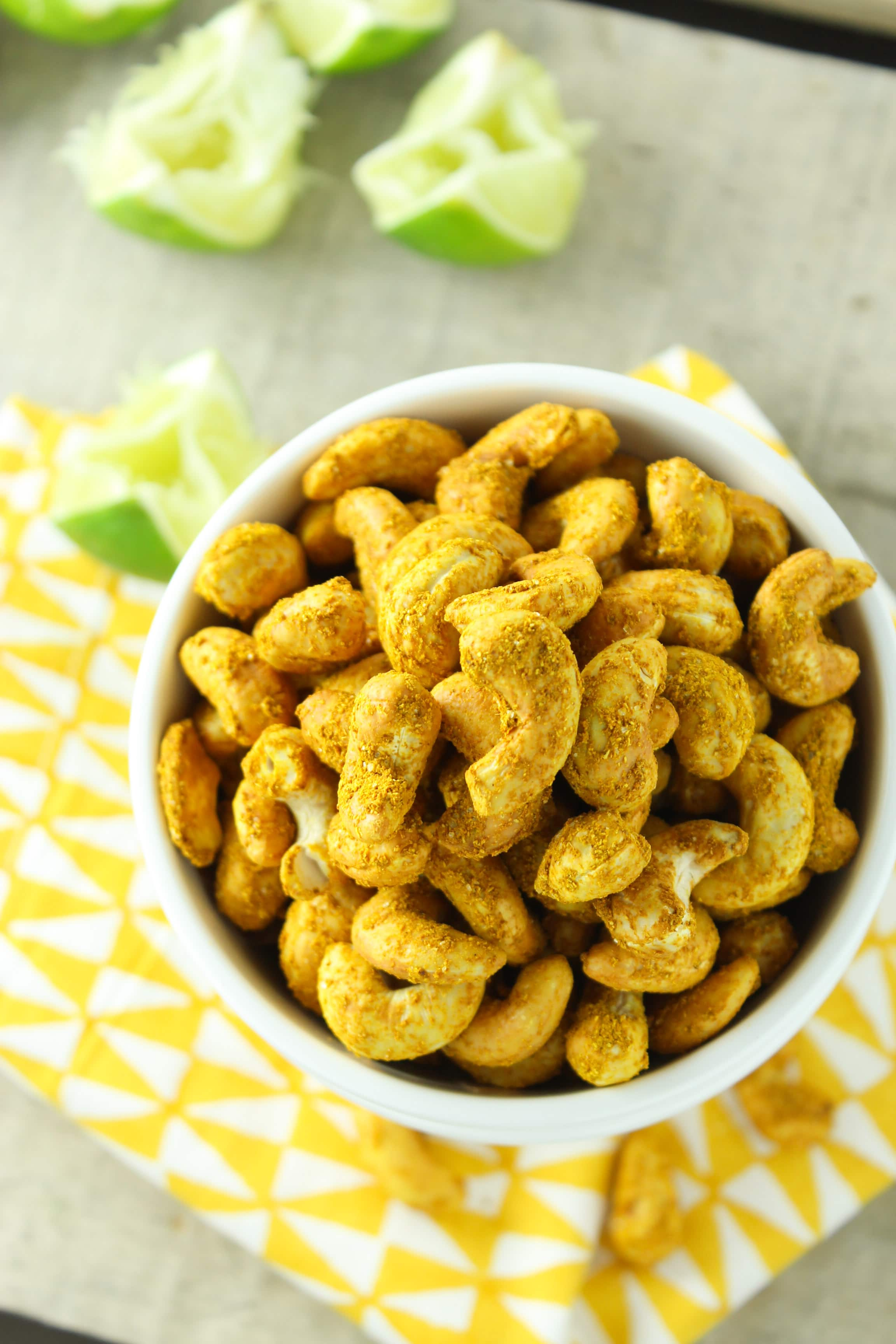 Easy Curry Lime Roasted Cashews – The Fitchen